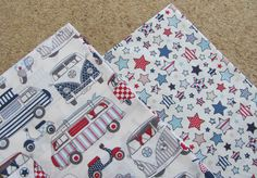 Chatham Glyn FABRICS HAPPY CAMPERS PATCHWORK BUNDLE - CAMPERVANS - 100% COTTON