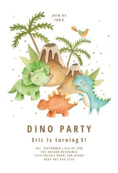 Dinosaur Birthday Party, Birthday Balloons, Baby Birthday, Birthday Party Themes, Birthday Party Clipart, Die Dinos Baby, Baby Dino, Spiderman Invitation, Spa Day Gifts
