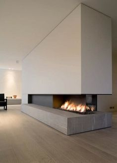 Cheminees on pinterest fireplaces modern fireplaces and contemporary fireplaces - Deco moderne woning ...