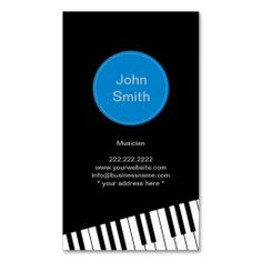 Modern Jazz Pianist/Musician Business Card
