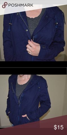 Aeropostale navy jacket Super comfy fit! Perfect go to for fall Aeropostale Jackets & Coats