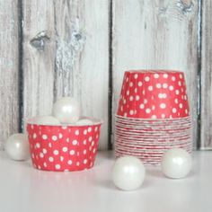 Candy Cups - Red Polka Dot