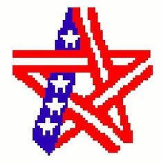 (4) Name: 'Crocheting : ARMED FORCES DAY crochet graph 65X65