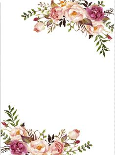 Free Printable Flower Borders and Frames | Floral Border ...