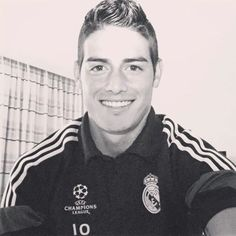 james rodriguez  Black and white picture Real Madrid 2014