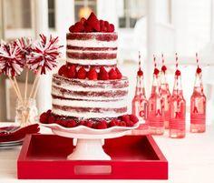 """Red Velvet """"Naked"""" Layer Cake"""