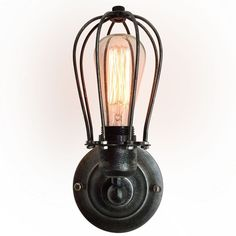Westmen Lights 1 Light Squirrel Cage Wall Sconce
