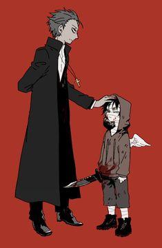 君が笑うまで Angels of Death Fanart Gray and Zack