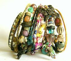 Bangle Bracelets Urban Bohemian Gypsy by FineAndFunkyJewelry, $42.00