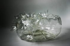 flower bowl. made from a recycled plastic bottle.