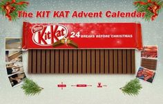 The Kit Kat Advent Calendar is Made Up of 24 Fingers #advent #holiday trendhunter.com