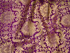 c8e5bfd70 Purple Indian Brocade Fabric Banarasi Brocade Fabric by the Yard, Banaras  Brocade for Wedding Dress,Crafting Sewing Costumes Ethnic Dress