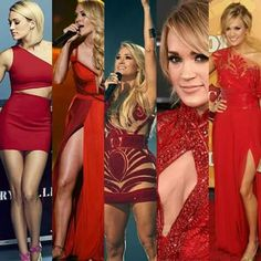 Carrie Underwood looking flawless in red dresses! Girl Country Singers, Country Music Artists, Country Girls, Carrie Underwood Fans, Carrie Underwood Pictures, All American Girl, Petite Women, Female Singers, Celebs