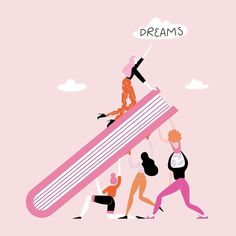 If we lift eachother up, we have the power to make all our dreams come true ✨ Be a woman who supports women 💪   Tag someone below who you want to lift up today! 👇   📷: )  of March sales will be donated to support the for Feminist Quotes, Feminist Art, Great Things Take Time, Woman Illustration, Illustrations, Powerful Women, Ladies Day, Women Empowerment, Girl Power