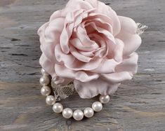 Champagne and Blush Corsage Pin Fabric Flower Pins, Corsage Pins, Cabbage Roses, Bridal, Boho, Flower Brooch, Champagne, Pink, Blush