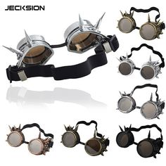 JECKSION 2015 Fashion Rivet Steampunk Windproof Mirror Vintage Gothic Lenses Goggles Glasses Free Shipping-in Sunglasses from Women's Clothing & Accessories on Aliexpress.com | Alibaba Group