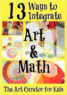 The Art Curator for Kids - 13 Ways to Integrate Art and Math!: The Art Curator for Kids - 13 Ways to Integrate Art and Math! Math For Kids, Fun Math, Math Activities, Steam Activities, Painting Activities, Math Resources, Maths 3e, Math College, Math Projects