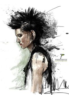 Aproveché el insomnio y salió un fanart de una de mis películas favoritas/ Thanks to insomnia I did this, a fanart of one of my favourite movies...The Girl with the dragon tattoo #photoshop #watercolor #textures #drawing #painting #digitalpainting #drawing #illustration #ilustracion #fanart #punk  #hair #thegirlwiththedragontattoo #rooneymara #danielcraig #nin #trentreznor #nineinchnails