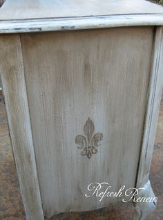 : How to Stencil Furniture with Dark Wax