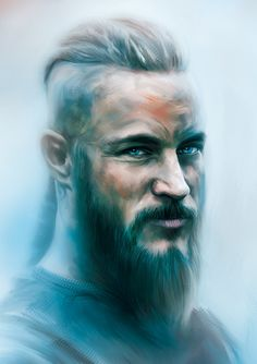 Ragnar - Vikings Fan Art by Jonathan Gonzalez, via Behance ★ Find more at http://www.pinterest.com/competing/ King Ragnar, Antonio Mora, Vikings, Fanart, Fan Art