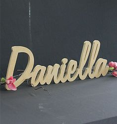 RAW MDF FREESTANDING NAME Nursery Word Timber Custom wood cutout personalised
