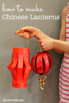 How to make Chinese lantern - two easy Chinese New Year crafts for kids
