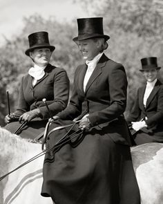 Riding side saddle at the Boxing Day Hunt is de rigeur. Sidesaddle is so exciting to ride.