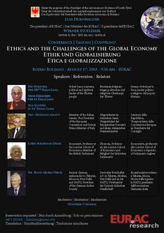 Ethics and the challenge of the global events   EURAC 1st August 2005