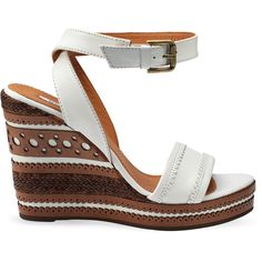 Geox 2012 Spring-Summer collection white wedges found on Polyvore - love the design detail