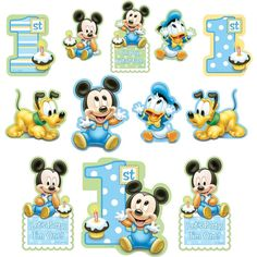 12 Disney Baby Mickey Mouse Happy 1st Birthday Cutout Decorations #mickey https://twitter.com/BandPUSA