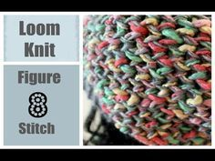 LOOM KNITTING STITCHES Figure 8 Stitch on a Round Loom, My Crafts and DIY Projects Round Loom Knitting, Loom Knitting Stitches, Loom Knitting Projects, Free Knitting, Knifty Knitter, Knitting Tutorials, Cross Stitches, Loom Crochet, Loom Knit Hat