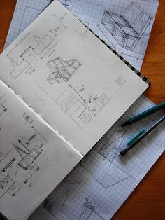 I can relate. My desk is filled with drawings like this: sink designs and hood measurements, and decor ideas.