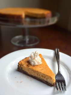Pumpkin Cheesecake with a Gingersnap Crust - The Lemon Bowl