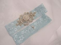 Beautiful Something Blue Stretch Lace Bridal by BridalbyVanessa, $40.50