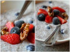 Mat for sjelen...: Chia - grøt med blåbær og vanilje...