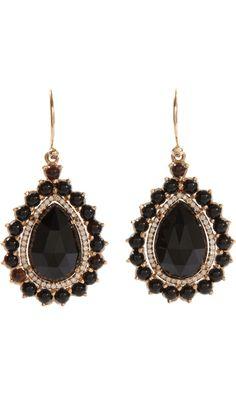 Irene Neuwirth Black Onyx & Diamond Teardrop-Shaped Earrings