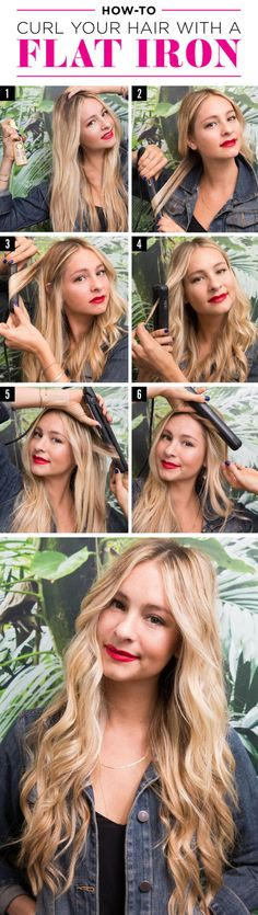 How to Curl Your Hair with a Flat Iron – Curl Hair With a Straightener Tutorial