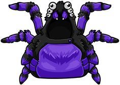Spider web wings + a little spider backpack!