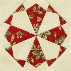 Dear Jane patchwork quilt F2 Kaleidoscope