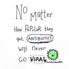 """7,112 Likes, 43 Comments - ScienceAlert (@sciencealert) on Instagram: """"Word!😂😂✏️:@twisteddoodles #sciencejoke #joke #funny #pun #cringe #antibiotics #science…"""""""