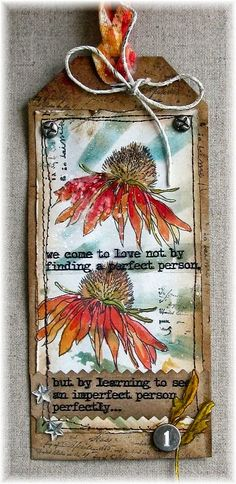 Scrapbook Dreams: Tag Flower Power