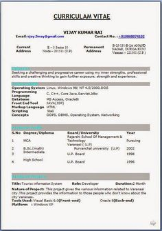 Resume Format Download In Word Document Best Curriculum Vitae Free Download Sample Template Excellent Resume .