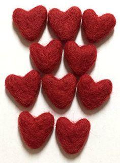 Yarn Place Felt Wool Felted Sculpted Hearts 10pcs 30mm (R... https://www.amazon.com/dp/B076B7DN7M/ref=cm_sw_r_pi_dp_x_z-Y3zbQ1TB69A