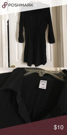 Black Old Navy Button Down Dress Black Old Navy Button Down Dress Old Navy Dresses