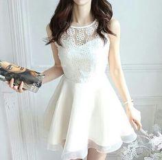 Formal dress white