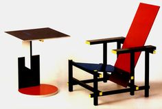 Rietveld table & chair