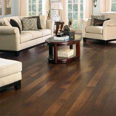 LOVE dark wood flooring!