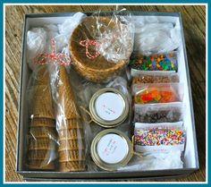 Ice Cream Sundae Kit gift idea
