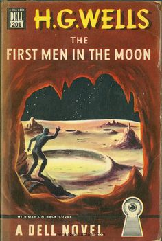 First Men in the Moon, H.G. Wells (1947 edition), cover artist unknown