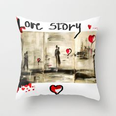 love story  Throw Pillow by sladja - $20.00 My Design, House Design, Love Story, Reusable Tote Bags, Throw Pillows, Toss Pillows, Cushions, Decorative Pillows, Architecture Design